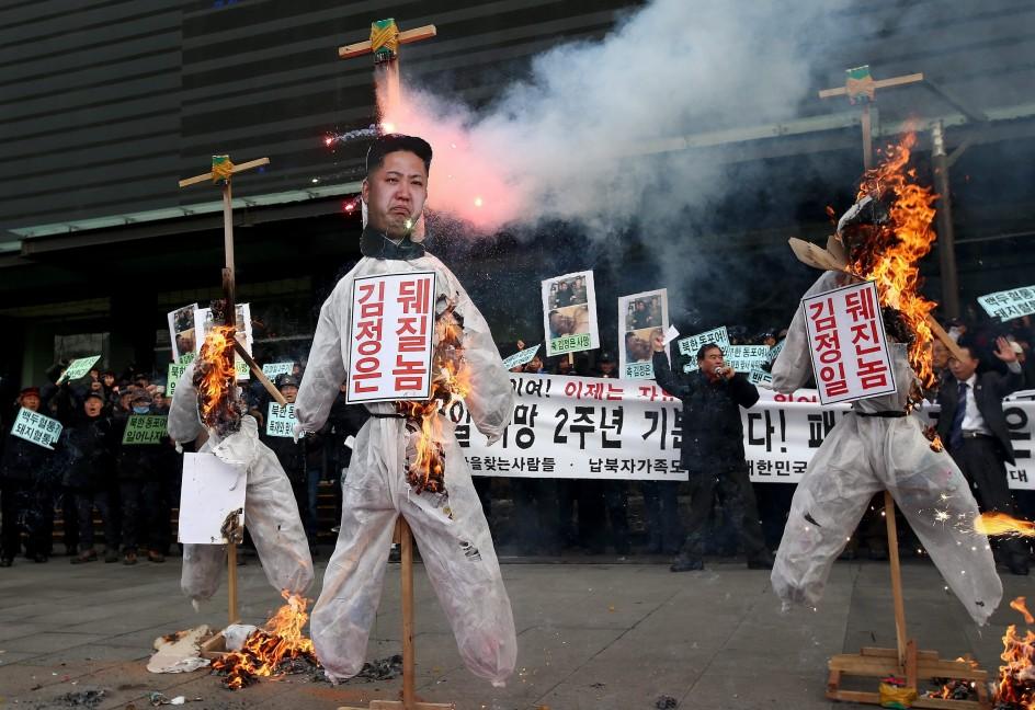 Protestas en Corea del Sur contra el régimen de Kim Jong-Un