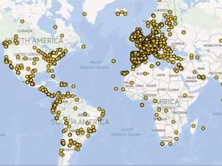 El mapa de l'emigració