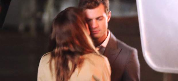 Jamie Dornan in the filming of Fifty Shades of Grey