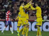 El Alcorcón celebra un gol en Granada
