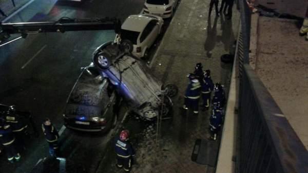 Accidente de tráfico en Santa María de la Cabeza