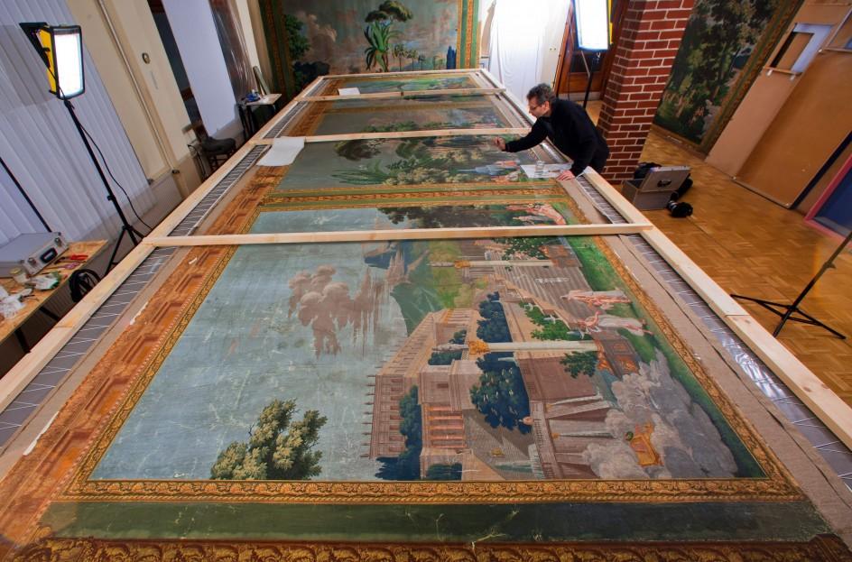 Restauración de un tapiz