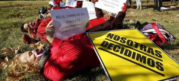 Protesta por la reforma de la Ley del Aborto