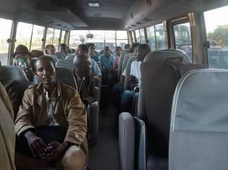 Ciudadanos keniatas evacuados de Sudán del Sur