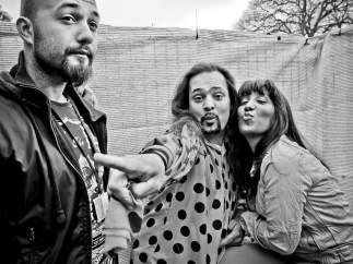 Jack Tarradellas, junto a Soraya Cortés, Lady Gipsy, y Raimon
