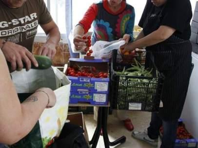 Alimentos en un comedor social