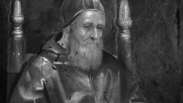 'Portrait of Pope Julius II', 1511/12 - X-ray image