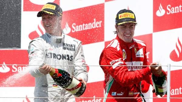 De celebración con Alonso