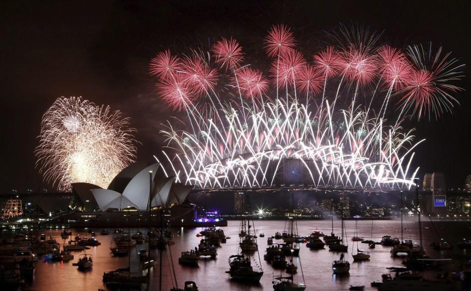Australia recibe al nuevo año