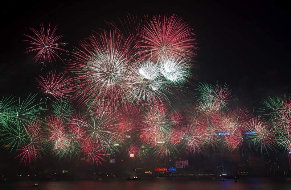 Celebración del Año Nuevo en Hong Kong
