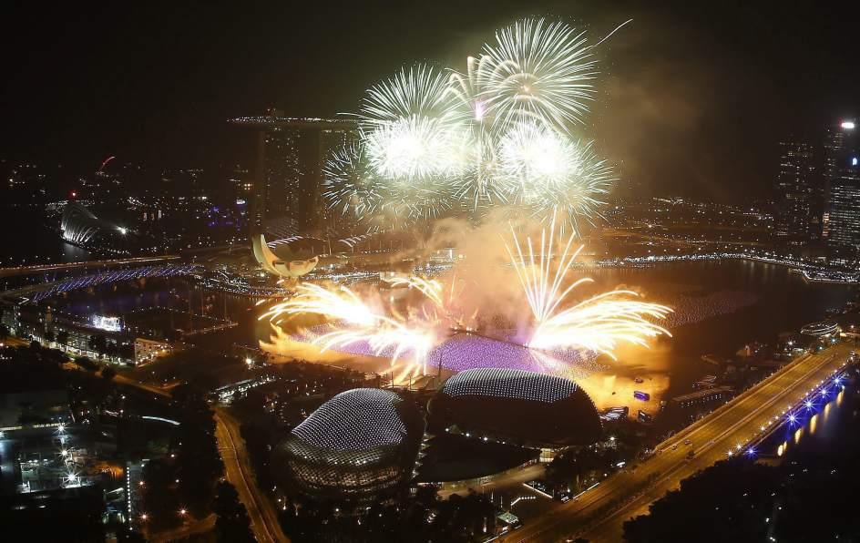 Celebración del Año Nuevo en Singapur