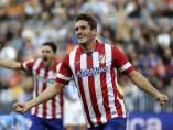 Koke celebra su gol ante el Málaga