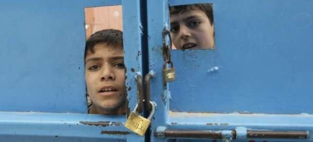 Niños palestinos