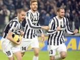 Bonucci, Llorente y Chiellini, de la Juventus