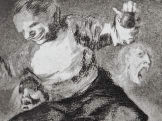 Detalle de 'Tras el vicio viene el fornicio', de Goya.