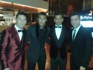 Messi, Neymar, Alves y Xavi