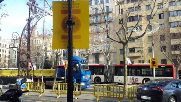 Obras en el Passeig de Gràcia
