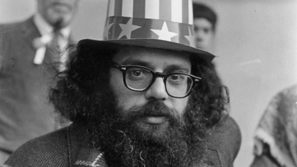 Allen Ginsberg on Central Park Bandstand, 5th Avenue Peace Demonstration to Stop the War in Vietnam, March 26, 1966