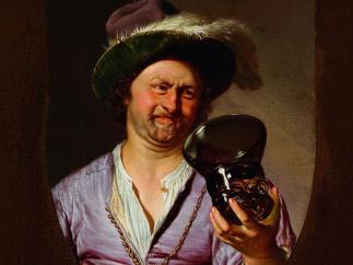 'Selbstporträt als fröhlicher Zecher', 1673