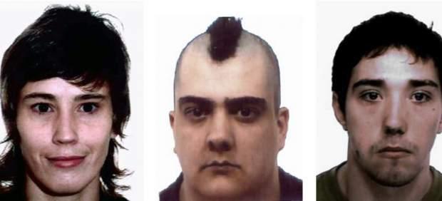 Fotografías facilitadas por la Policía Nacional de los tres detenidos en Galicia y Ciudad Real.