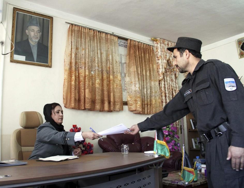 Primera jefa de Policía en Afganistán