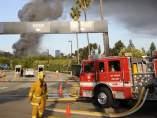 Incendio cerca de los Ángeles