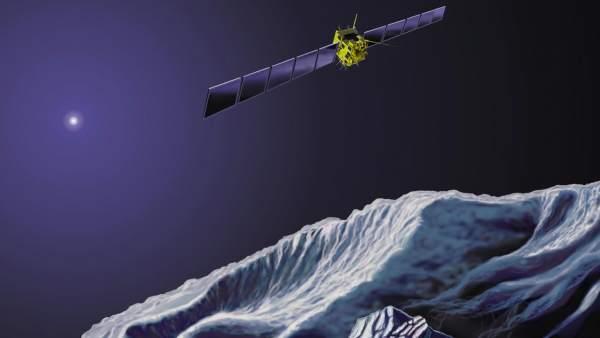 La sonda Rosetta y el módulo Philae, en el cometa Churyumov-Gerasimenko.