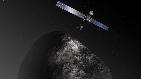 Recreación artística de la sonda Rosetta.