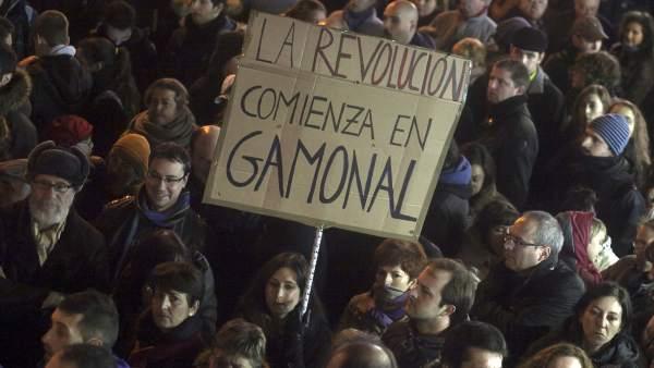 Gamonal, epicentro de protestas