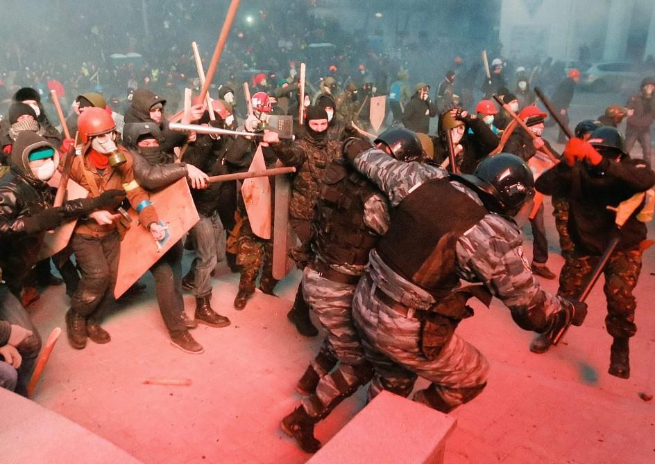 Resultado de imagen para disturbios en ucrania 2016