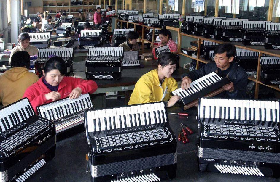 Instrumentos musicales en serie