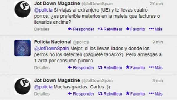 Polémicos tuits de la Policía
