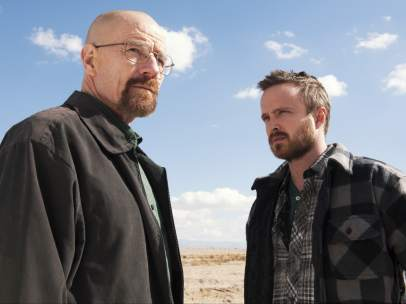 Los protagonistas de 'Breaking Bad'.