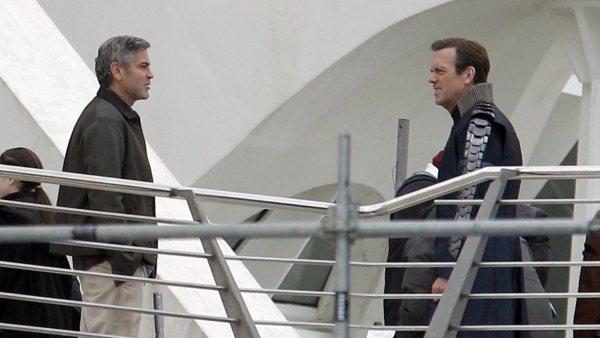 George Clooney y Hugh Laurie en Valencia