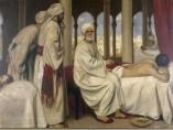 Albucasis (Al-Zahwari) blistering a patient in the hospital at Cordova, 1100 AD