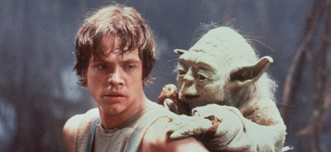 Mark Hamill, en el papel de Luke Skywalker.