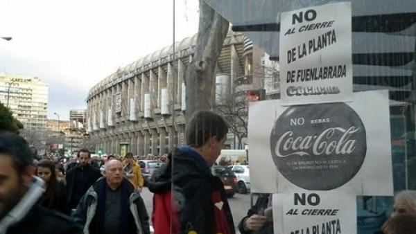 Manifestación de Coca-Cola