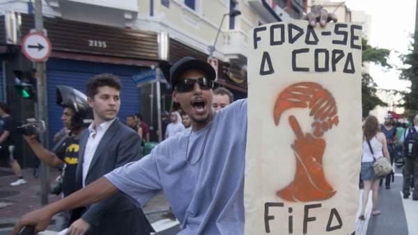Protestas contra el Mundial 2014