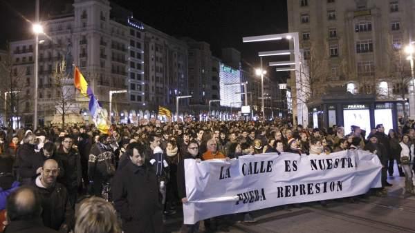 Protestas en Zaragoza