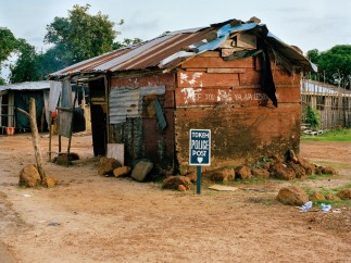 The police post in Tokeh, Western Area, Sierra Leone