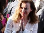 Valerie Trierweiler en la India