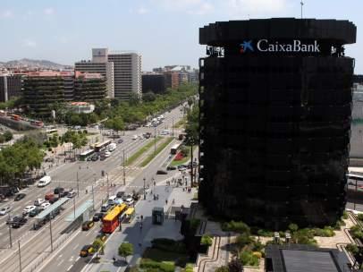 Imagen de la sede central de CaixaBanc en la Diagonal de Barcelona.