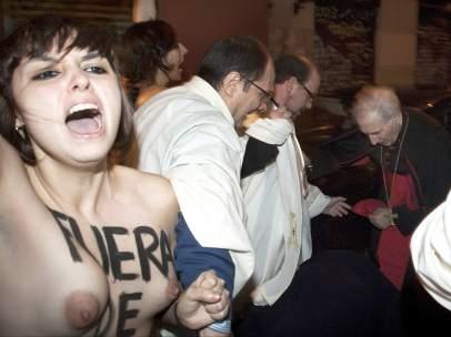 Femen aborda a Rouco