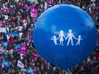 Protesta conservadora en Francia