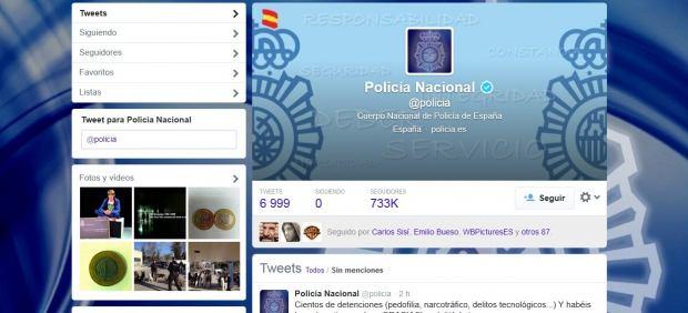 La Policía española ya es el cuerpo de seguridad con más seguidores de Twitter del mundo