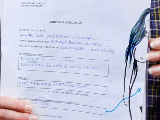 Petición para inscribir su cuerpo