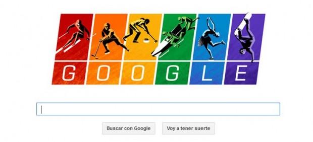 Google enarbola la bandera gay en un 'doodle' dedicado a los Juegos de Sochi