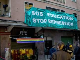La protesta que 'saltó' el cerco policial
