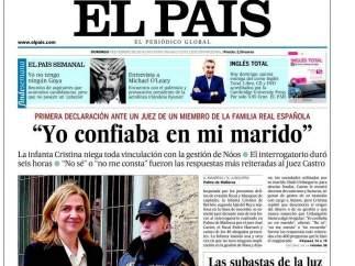La infanta, en 'El País'