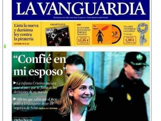 La infanta, en La Vanguardia